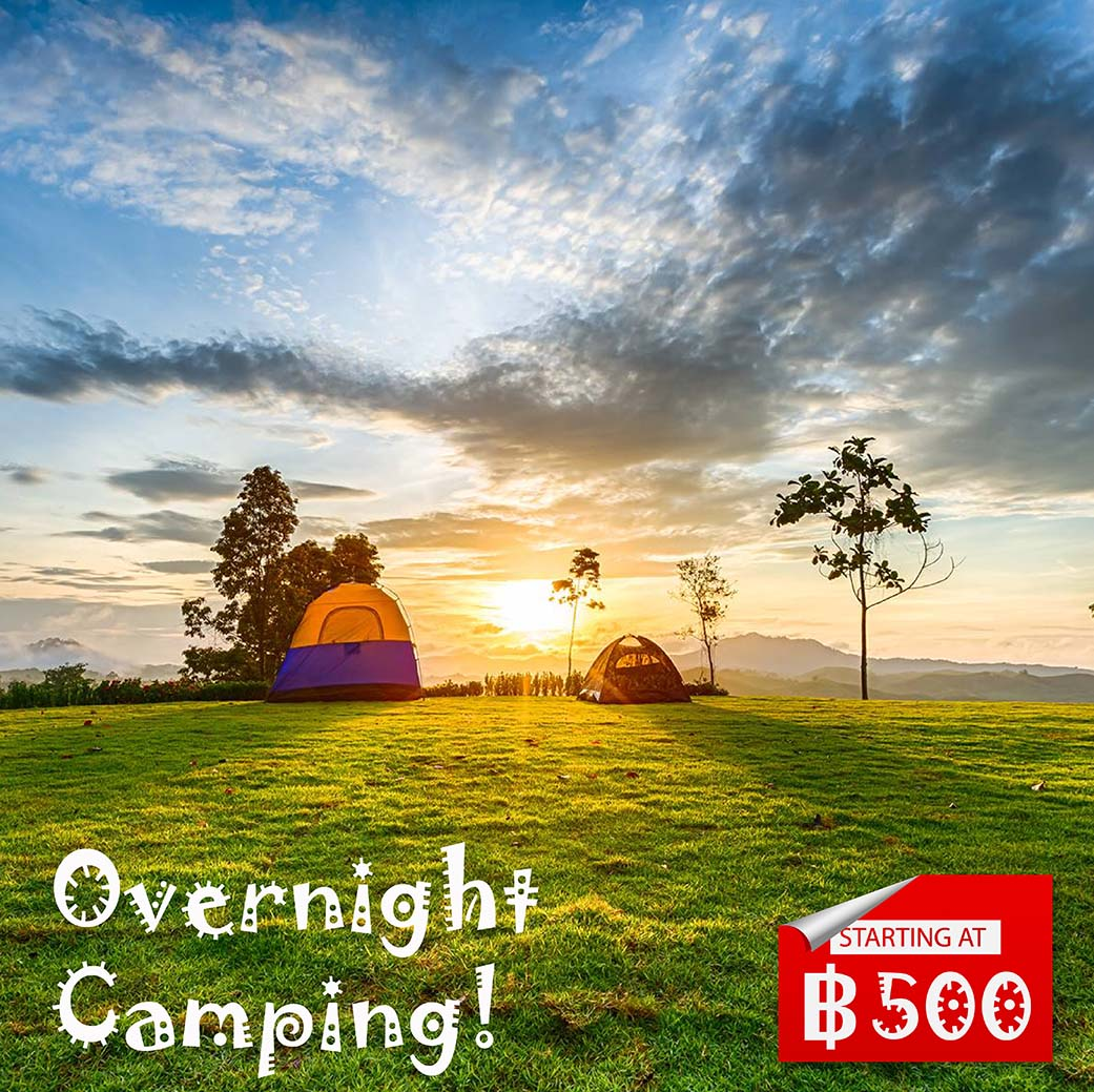 Overnight Camping promotion in Phangnga